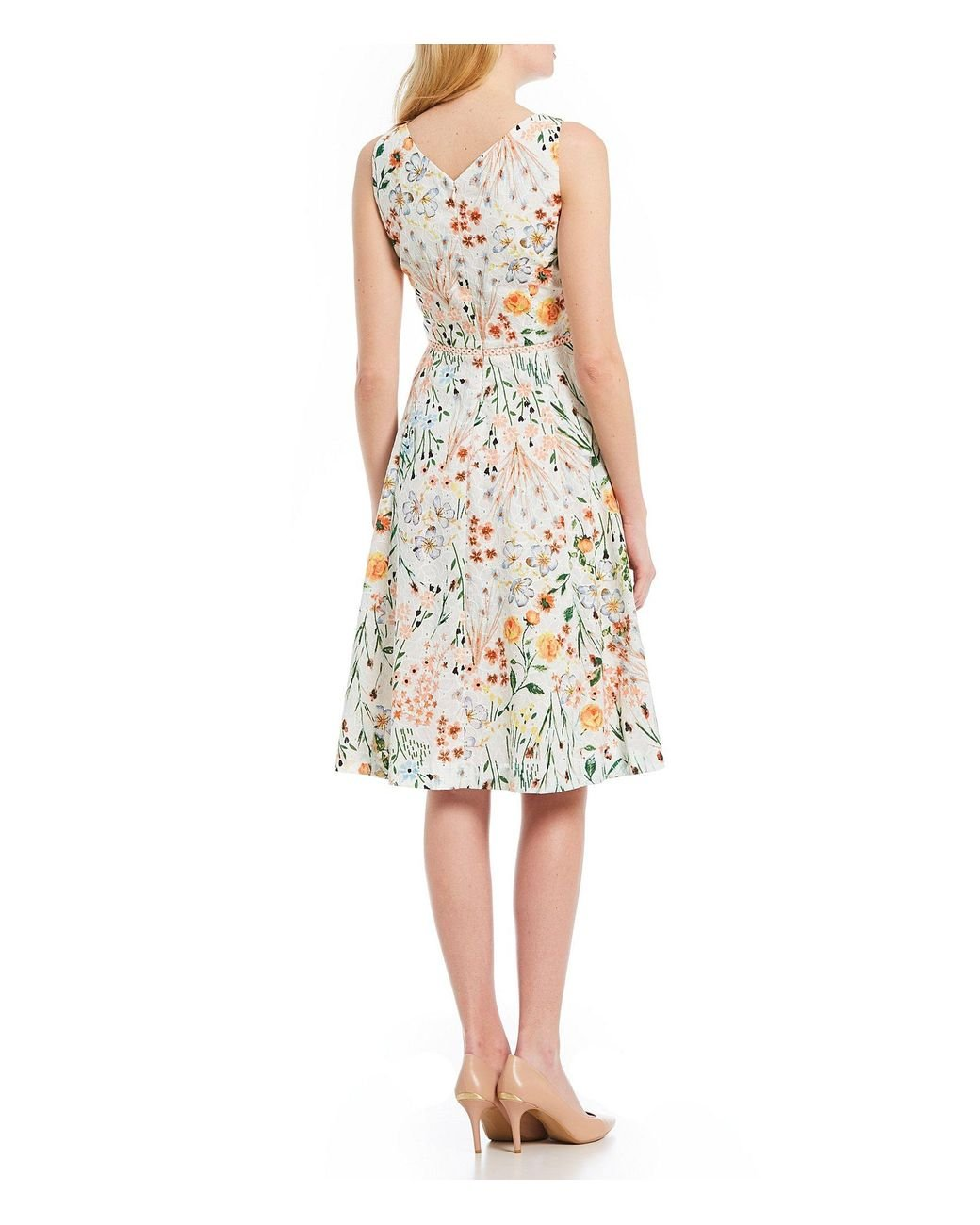 b29a6bafbbf Calvin Klein Floral Lace A-line Dress - Save 36% - Lyst