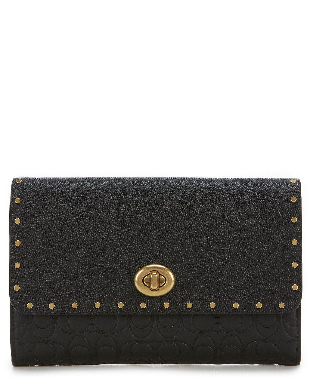 8d003782f Lyst - COACH Marlow Turnlock Chain Cross-body Bag in Black