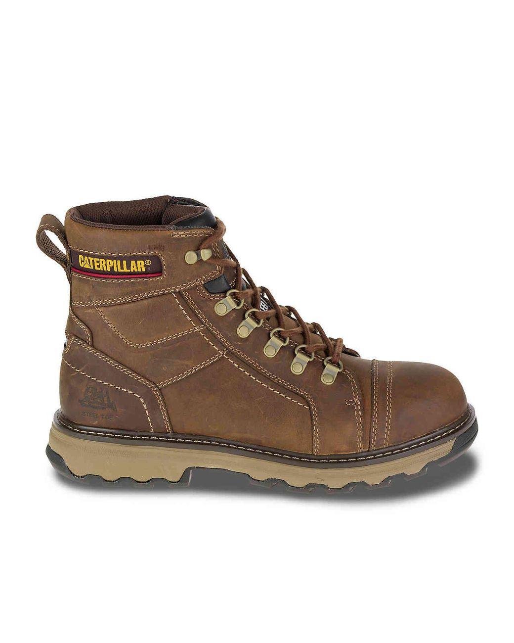 b9f3f5aab38 Lyst - Caterpillar Granger Steel Toe Work Boot in Brown for Men