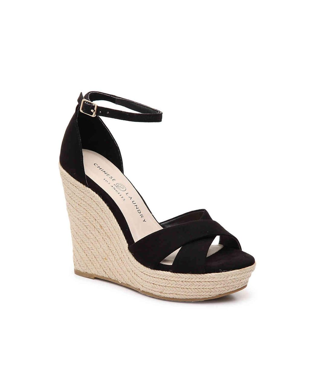 21b1cdc6ed Lyst - Chinese Laundry Morgan Wedge Sandal in Black - Save 38%