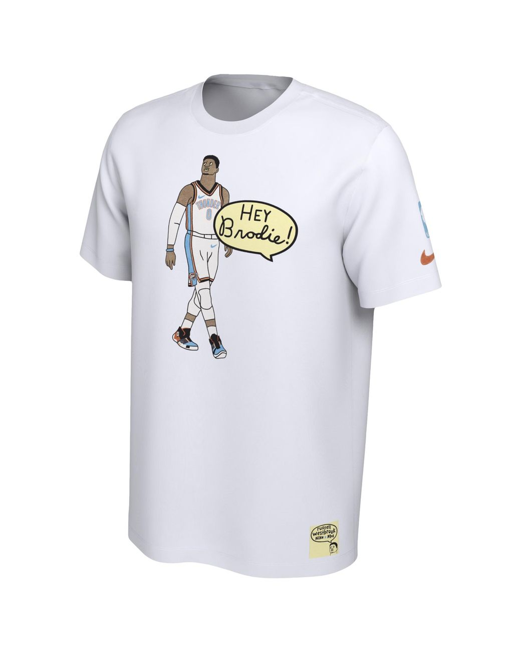 quality design 2a812 4e4bb Nike Russell Westbrook Nba Marlon Sassy Doodle Player T ...