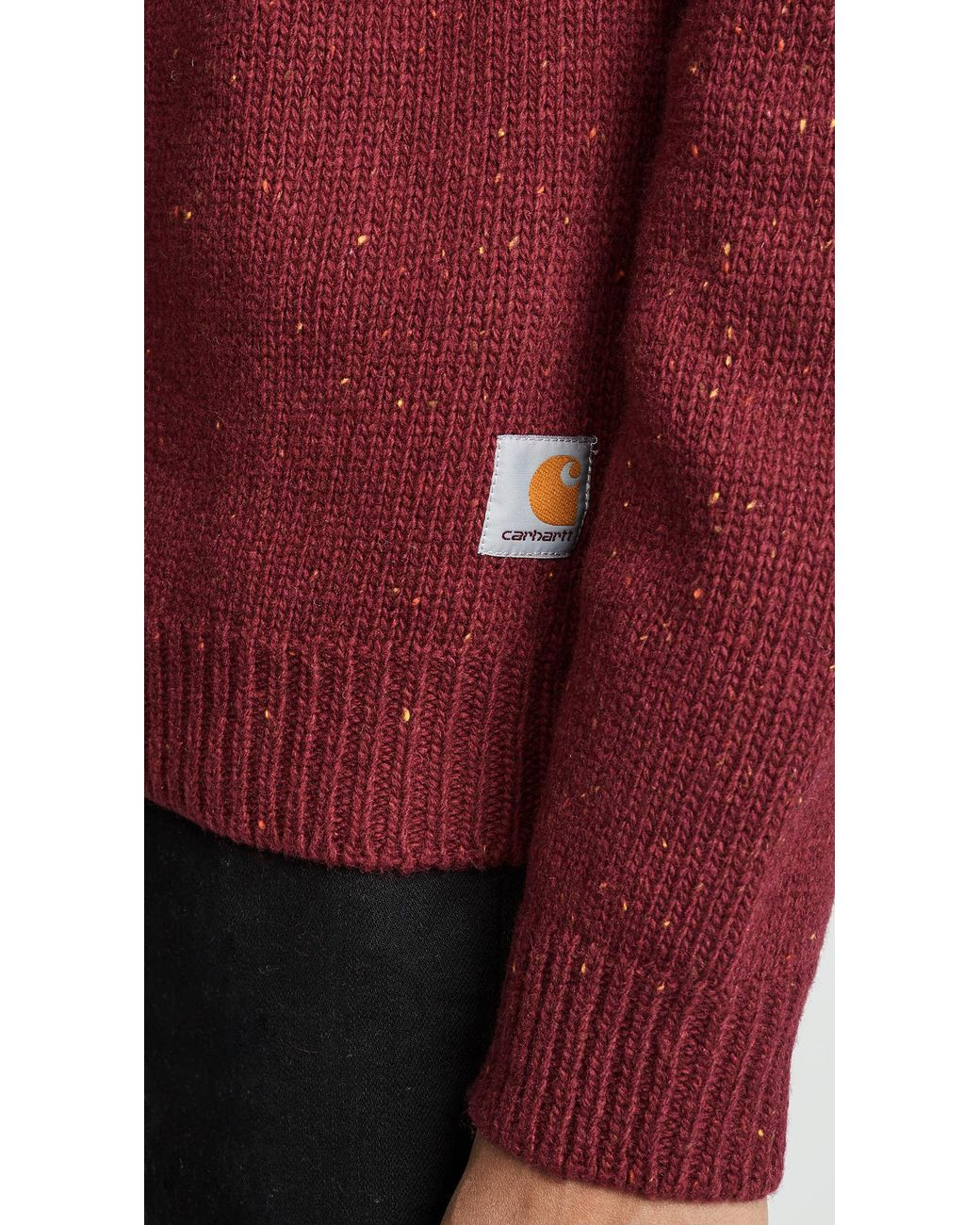5b32bf27e22 Carhartt WIP Anglistic Sweater in Red for Men - Lyst