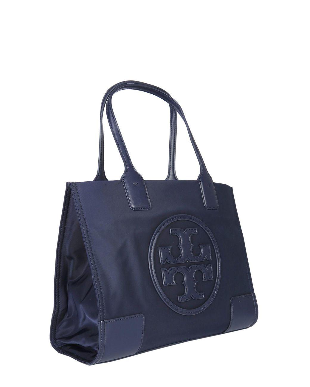 e59ca1588 Lyst - Tory Burch Mini Ella Tote Bag In Technical Fabric With Logo in Blue