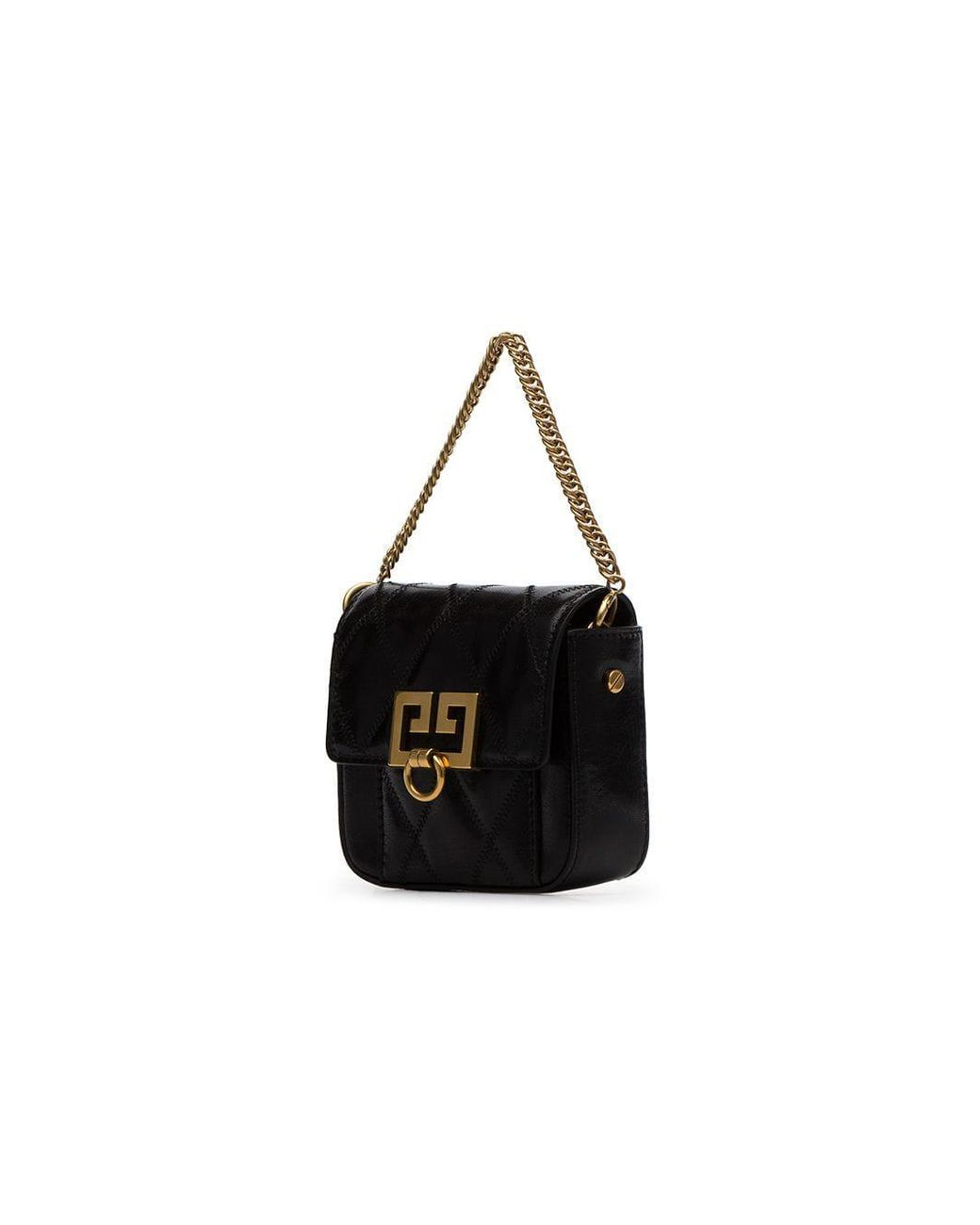 01dfea85de Givenchy Black Nano Box Quilted Leather Mini Bag in Black - Lyst