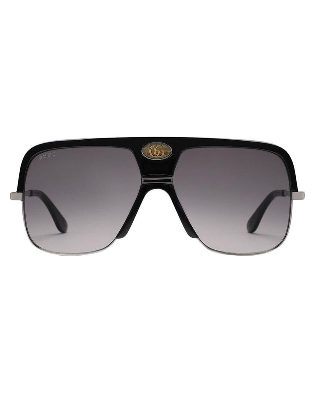 96093defb Gucci Navigator Sunglasses With Double G in Black for Men - Lyst