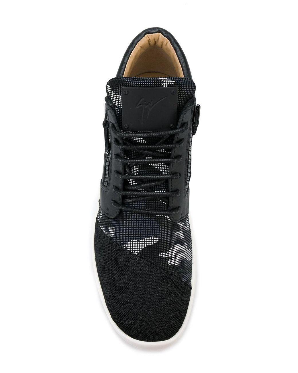 e617089b18fe1 Giuseppe Zanotti Runner Camouflage Sneakers in Black for Men - Lyst
