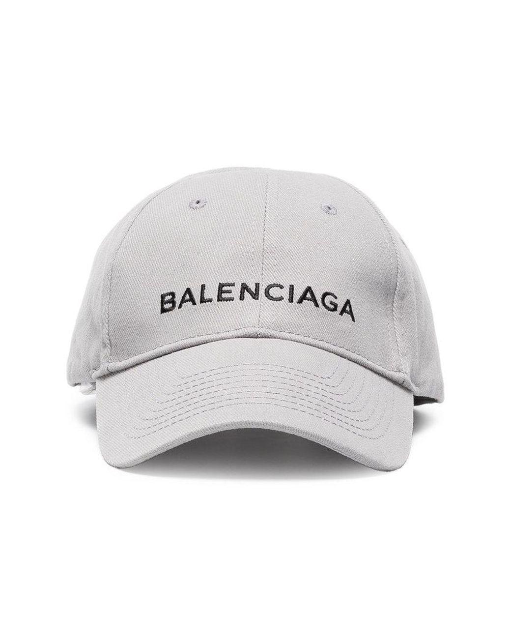 273480e8e62 Balenciaga Grey Cap With Black Logo in Gray - Save 10% - Lyst