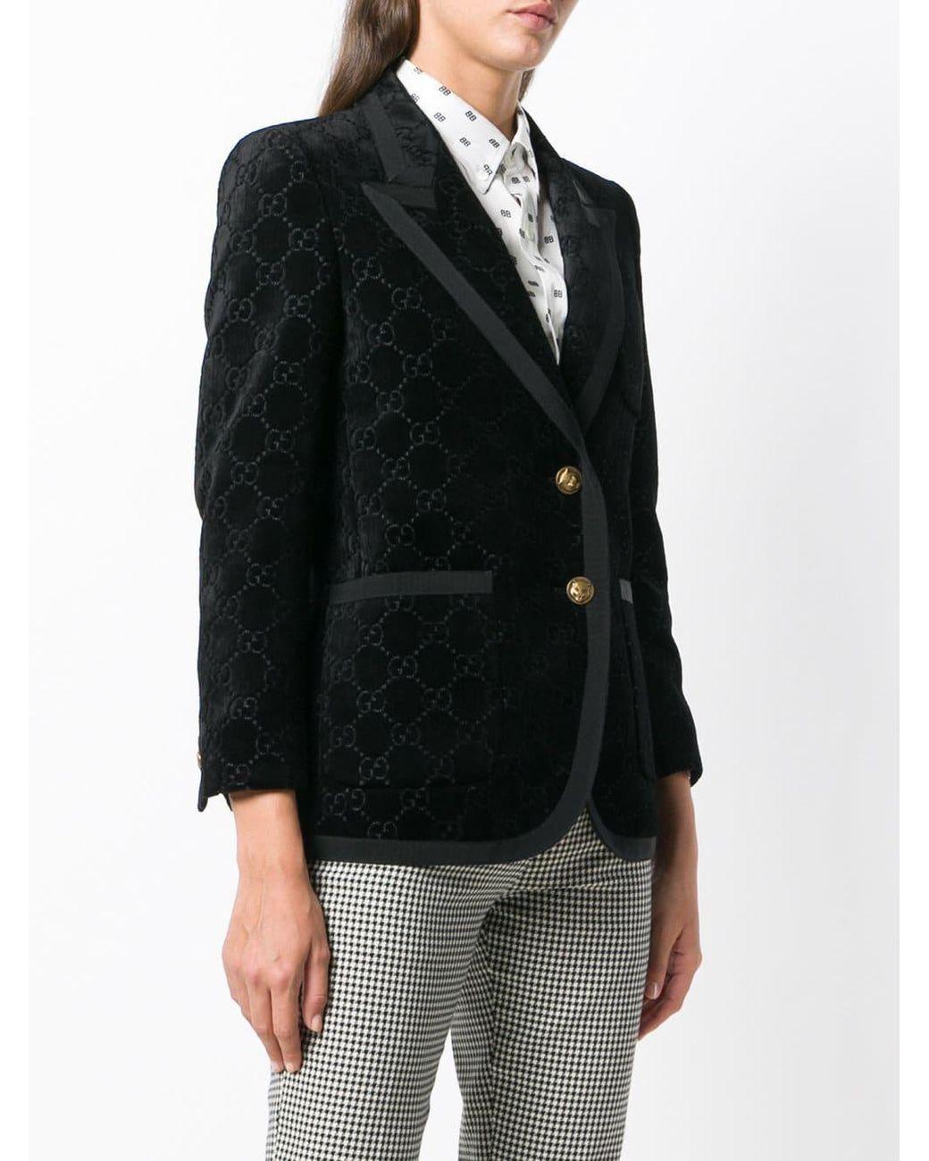 e9c038e8e Gucci GG Supreme Dinner Jacket in Black - Lyst