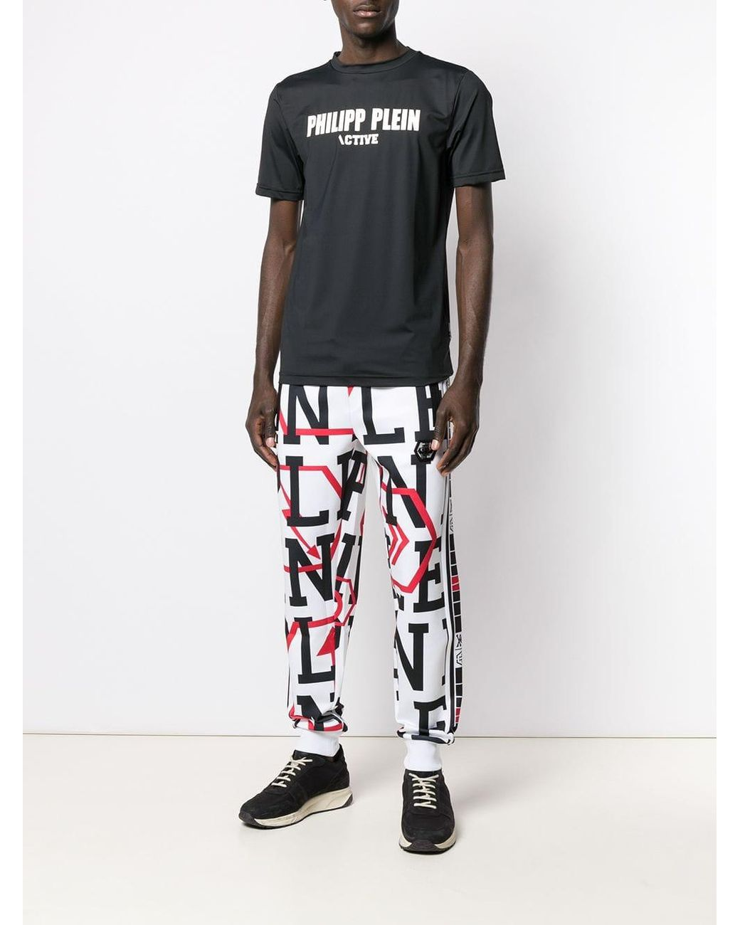 34e5166309 Lyst - Philipp Plein Geometric jogging Trousers in White for Men