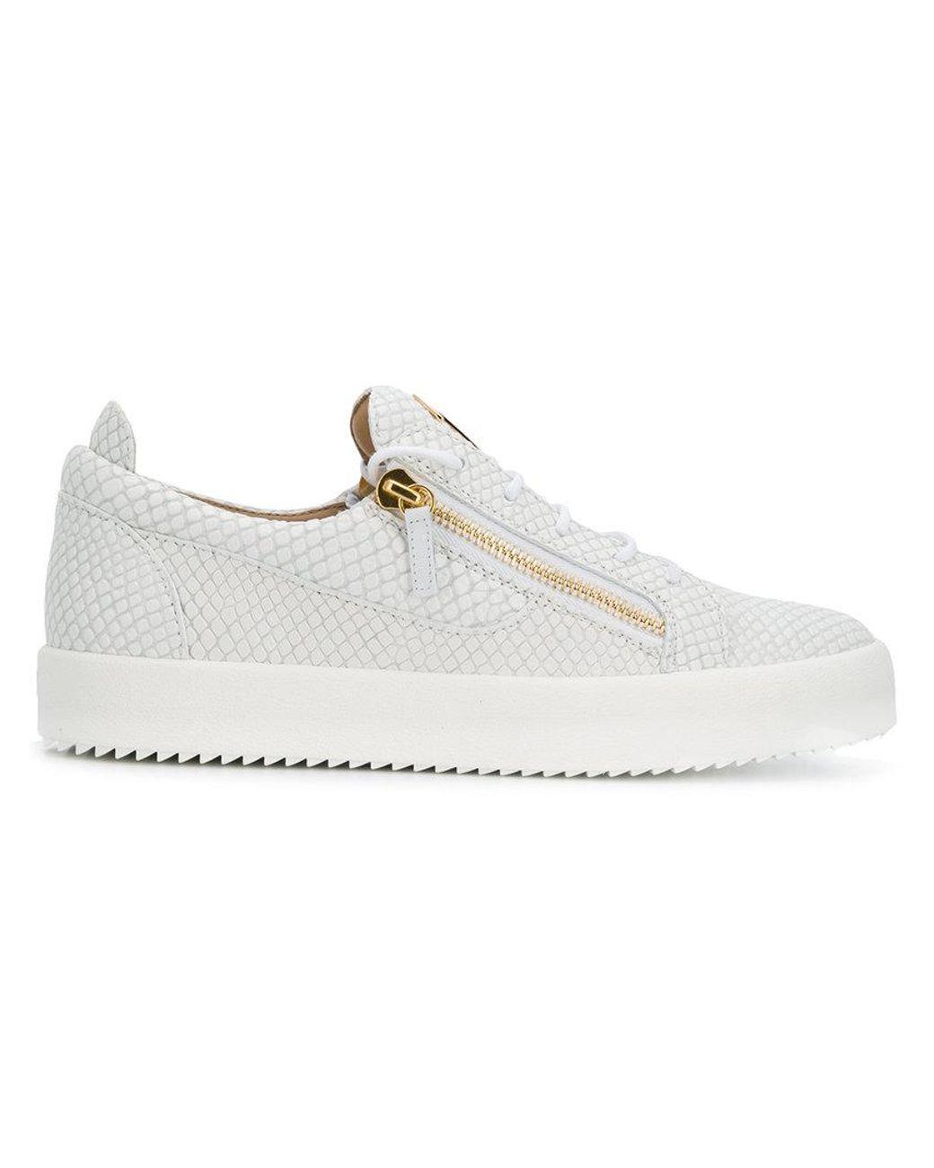 eaabf6d3226ef Giuseppe Zanotti Frankie Low-top Sneakers in White for Men - Lyst