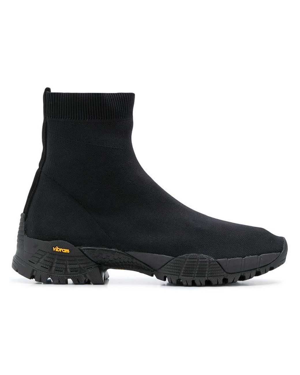 e0ac9533f53 Women's Black Knit Laceless Ankle Boot