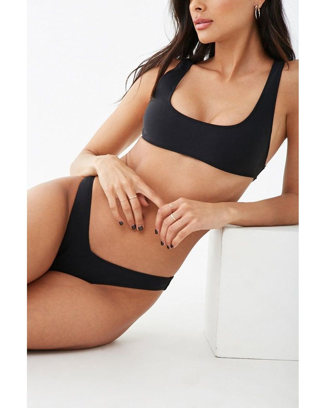 7685244b9a Long-Touch to Zoom. Long-Touch to Zoom. 1; 2. Forever 21 - Black High-leg  Bikini Bottoms ...