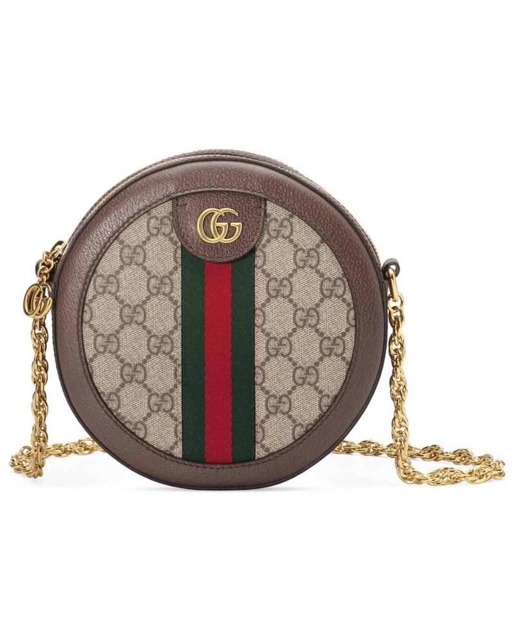 fc0ec695c Gucci Ophidia Mini GG Supreme Canvas Crossbody Bag in Natural - Save 28% -  Lyst