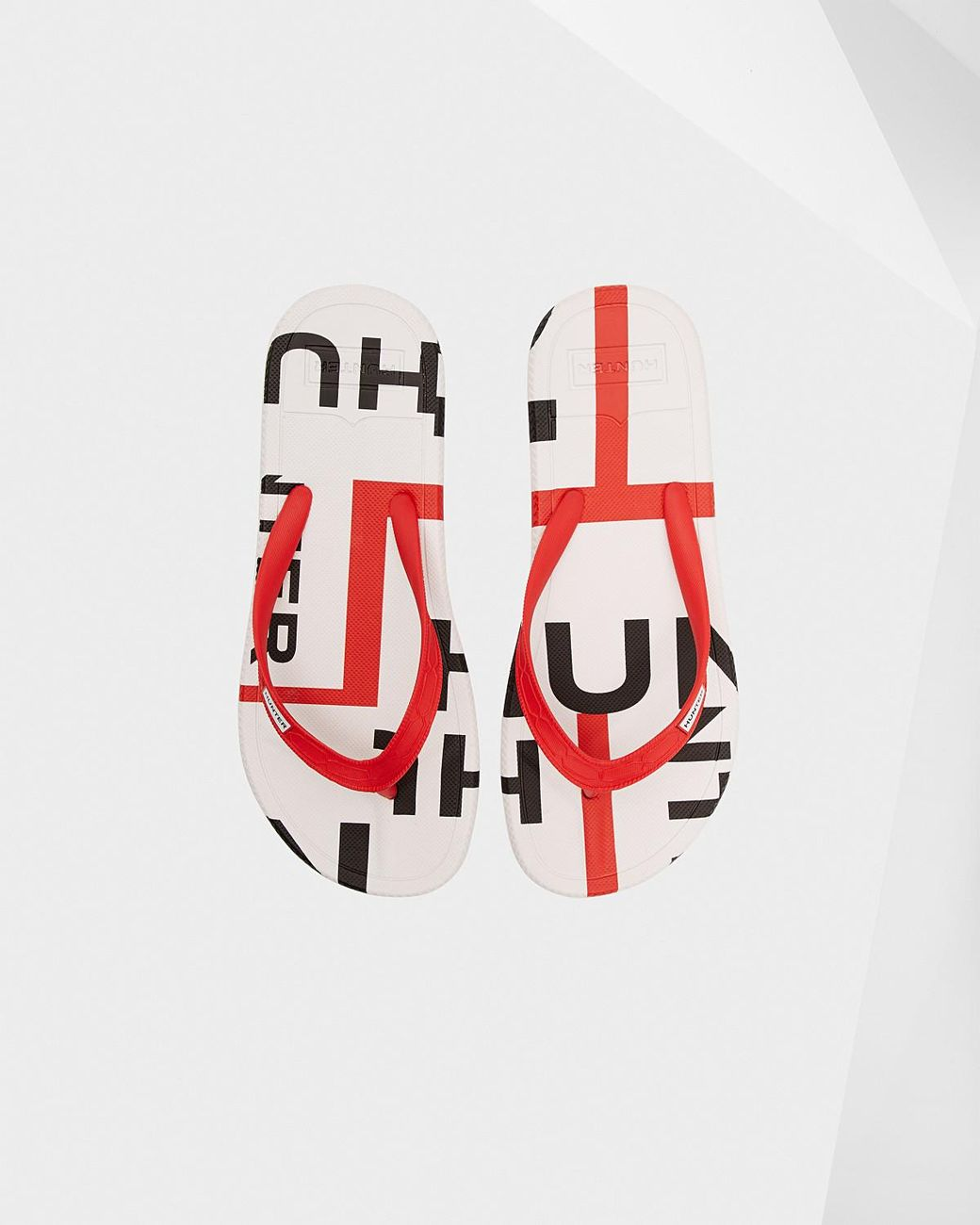 52956f1fc Long-Touch to Zoom. Long-Touch to Zoom. 1  2  3  4. Hunter - Red Original  Exploded Logo Flip Flops ...