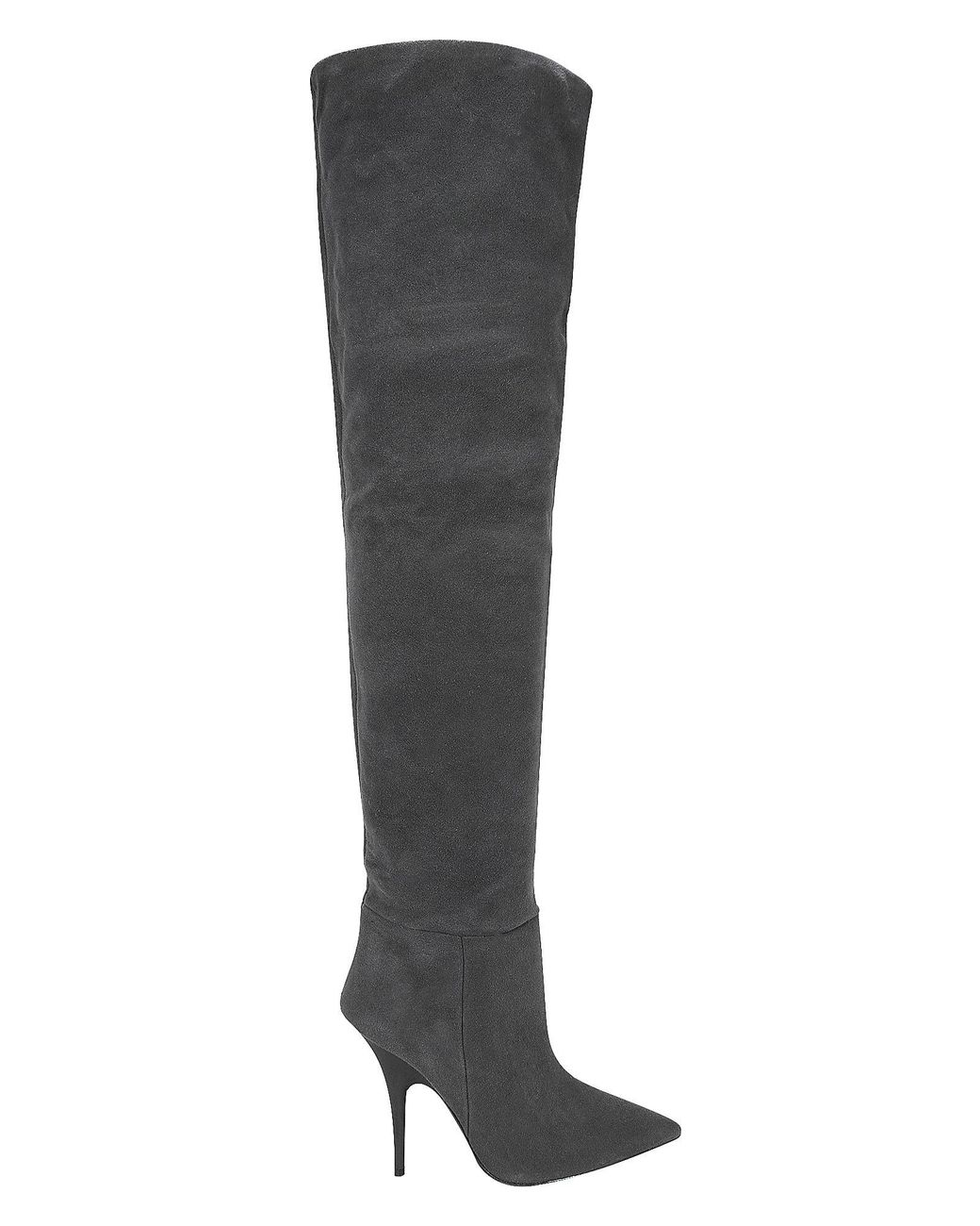 9e9f000e7 Yeezy Over-the-knee Suede Boots in Gray - Lyst