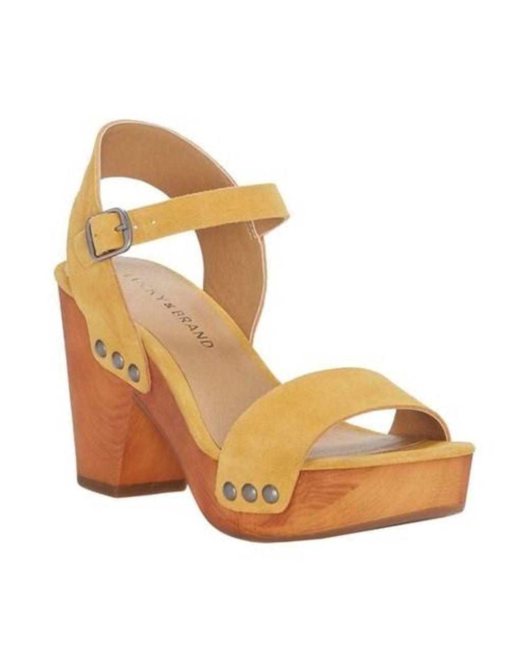 1188b04d98ce Lyst - Lucky Brand Trisa Ankle Strap Platform Sandal - Save 10%