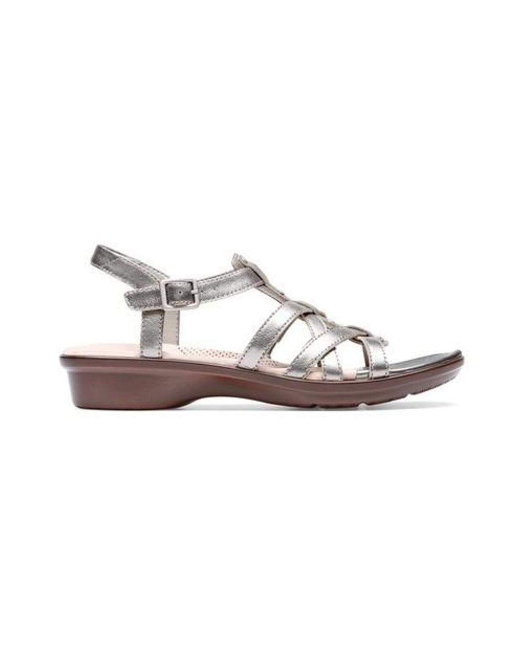 a03213b02 Long-Touch to Zoom. Clarks - Metallic Loomis Katey Strappy Sandal ...