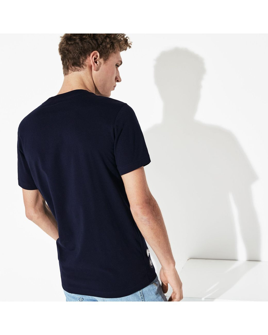 9b340e86f4 Lyst - Lacoste Sport French Open Edition Cotton T-shirt in Blue for Men