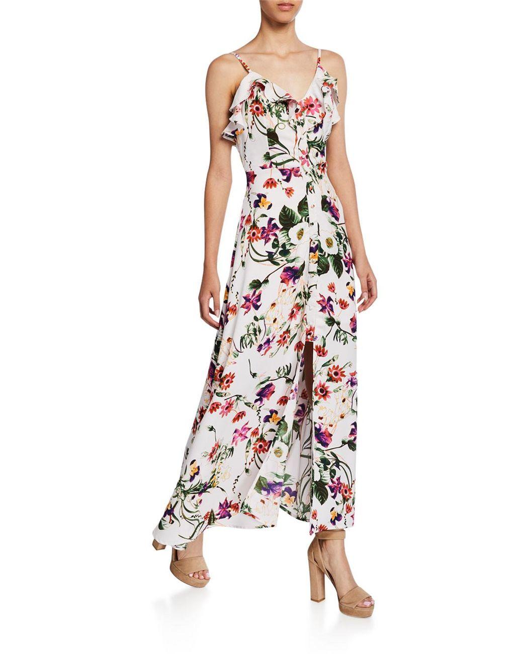 26c34eaa4529 Dex Floral-print Ruffle Maxi Dress - Lyst