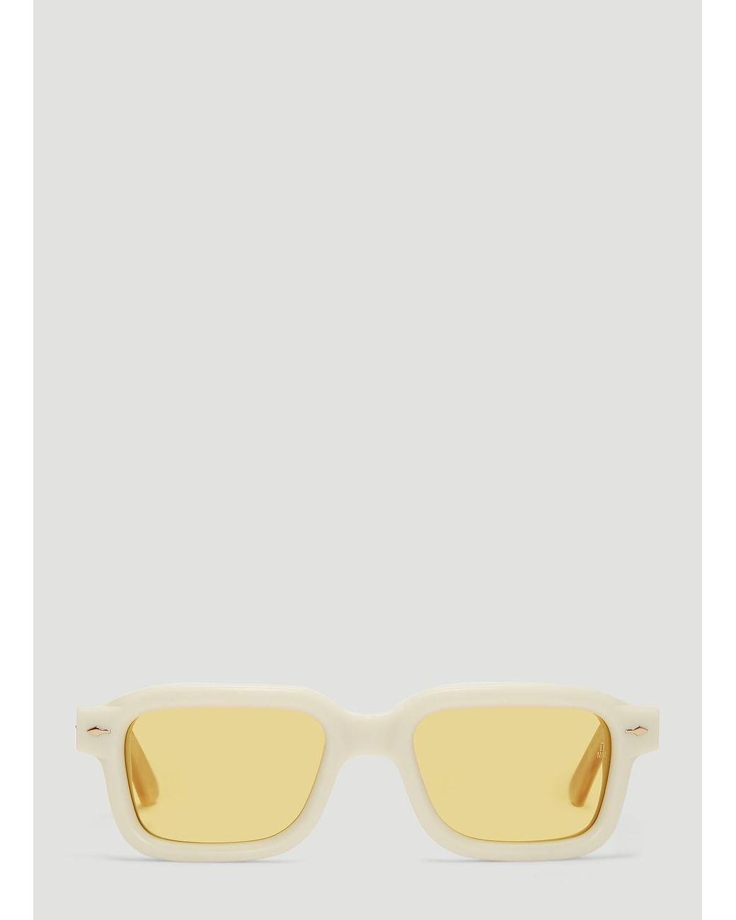 4faaefd8a10 Lyst - Jacques Marie Mage Sandro Sunglasses In Off-white in White ...