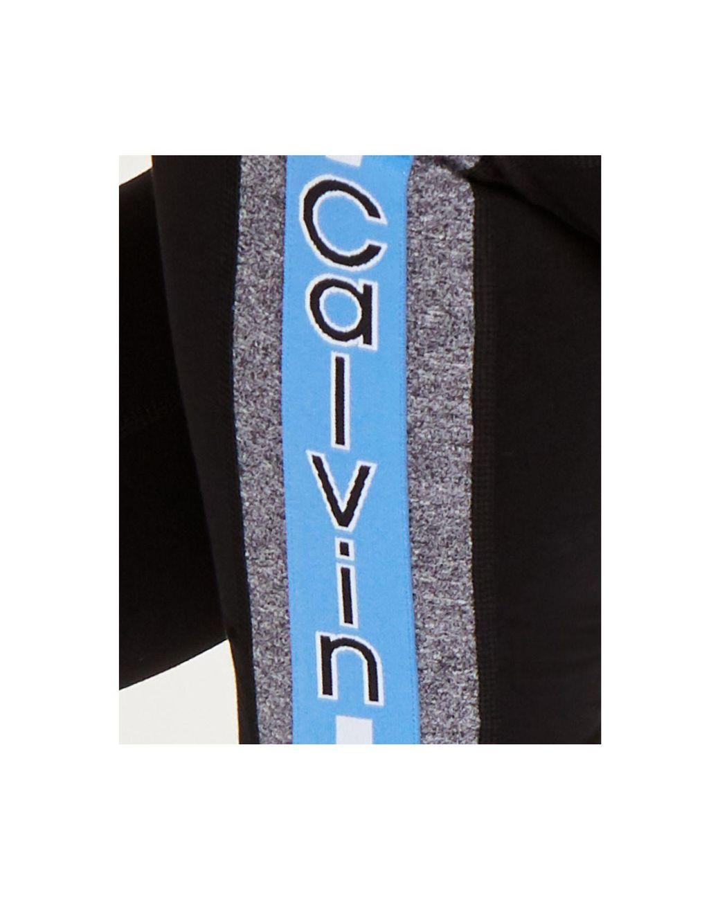 Calvin Klein Performance Plus Size Logo-stripe Ankle Leggings in
