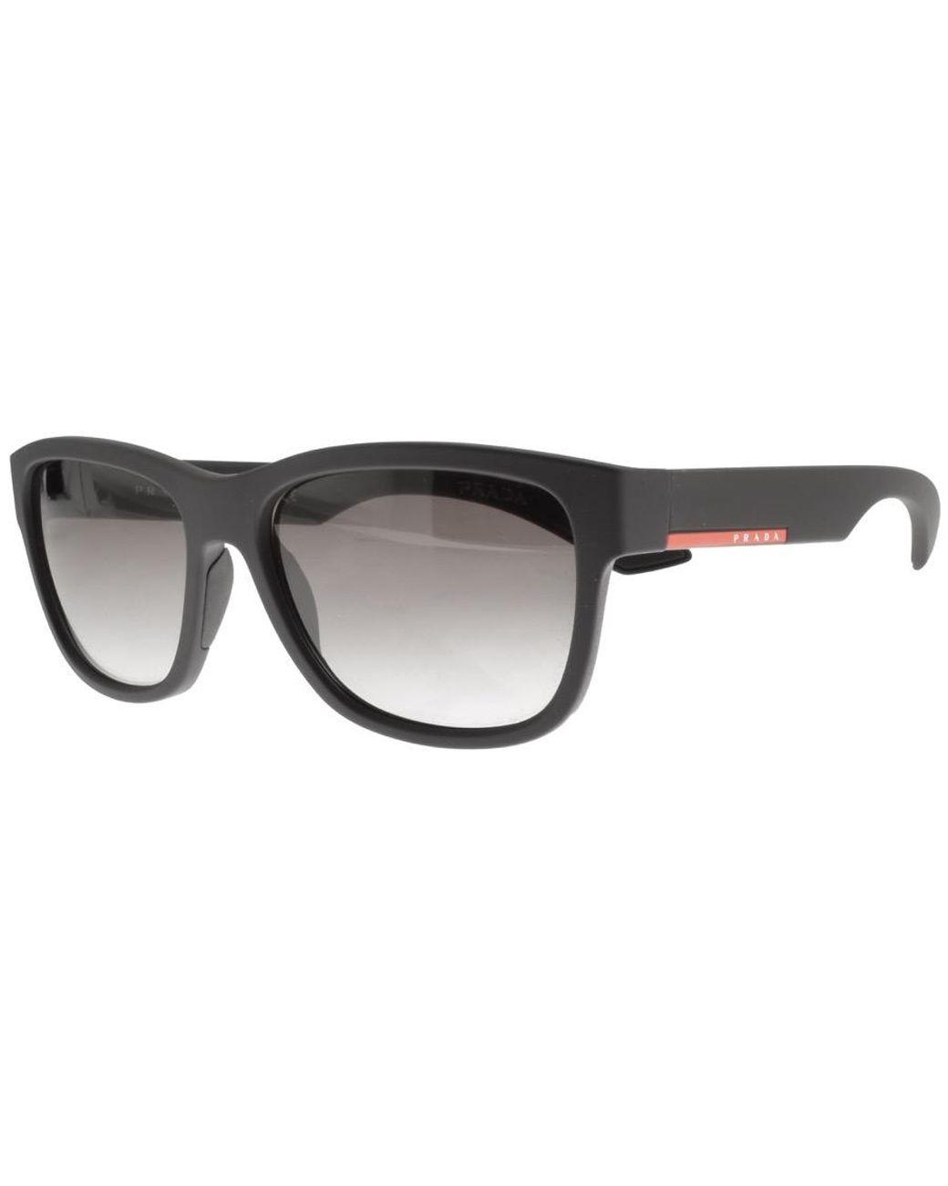 dcad05ba5a8a Prada Linea Rossa Sunglasses Black in Black for Men - Lyst