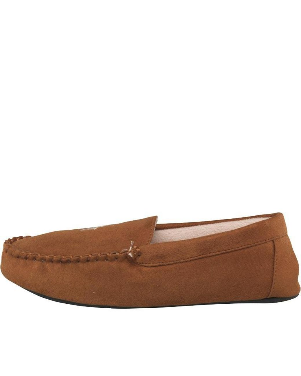1ae1e5b32 Ralph Lauren Dezi Moccasin Slippers Snuff/khaki in Brown for Men - Lyst
