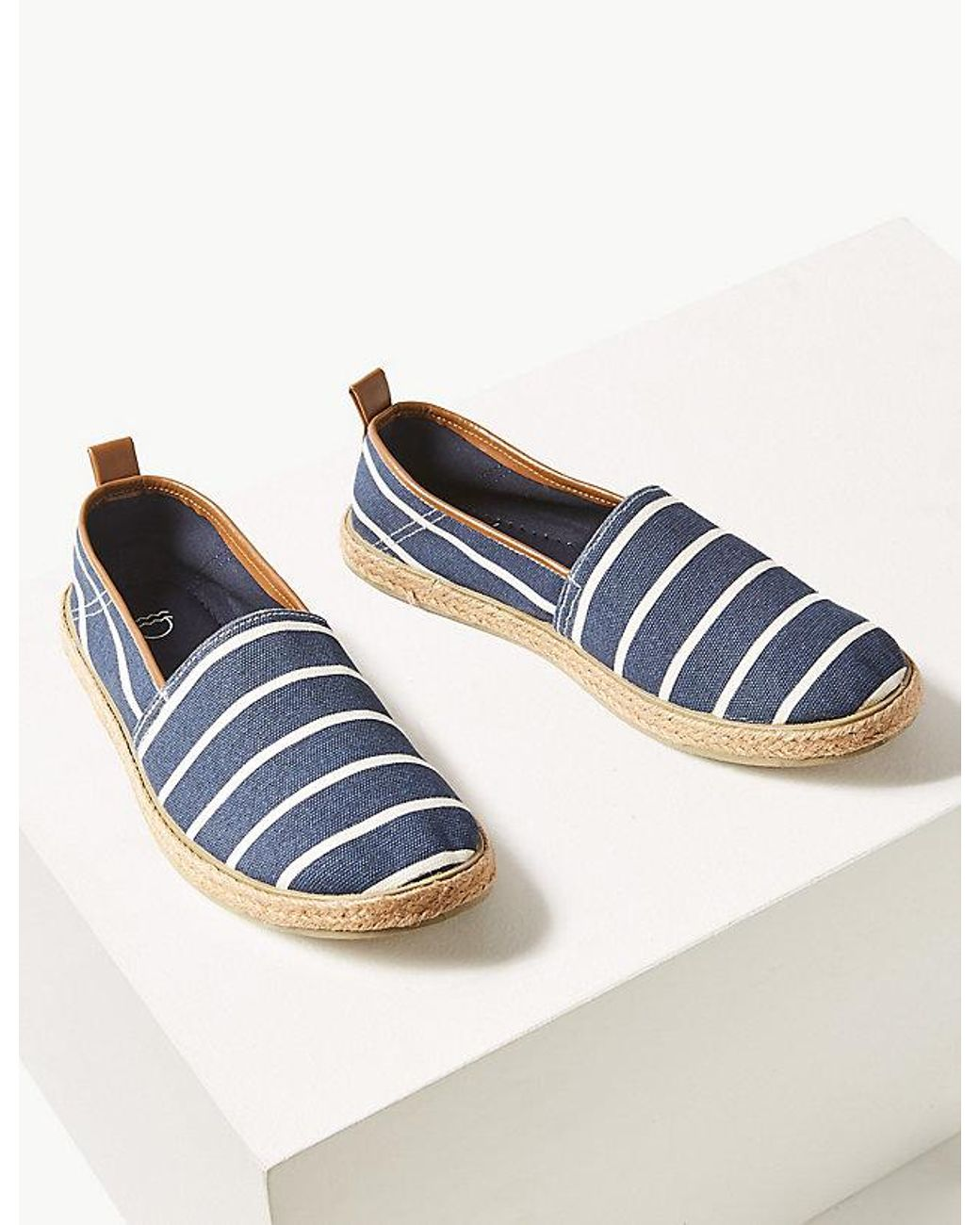 c68b26768 Marks & Spencer Cotton Slip-on Espadrilles in Blue for Men - Lyst