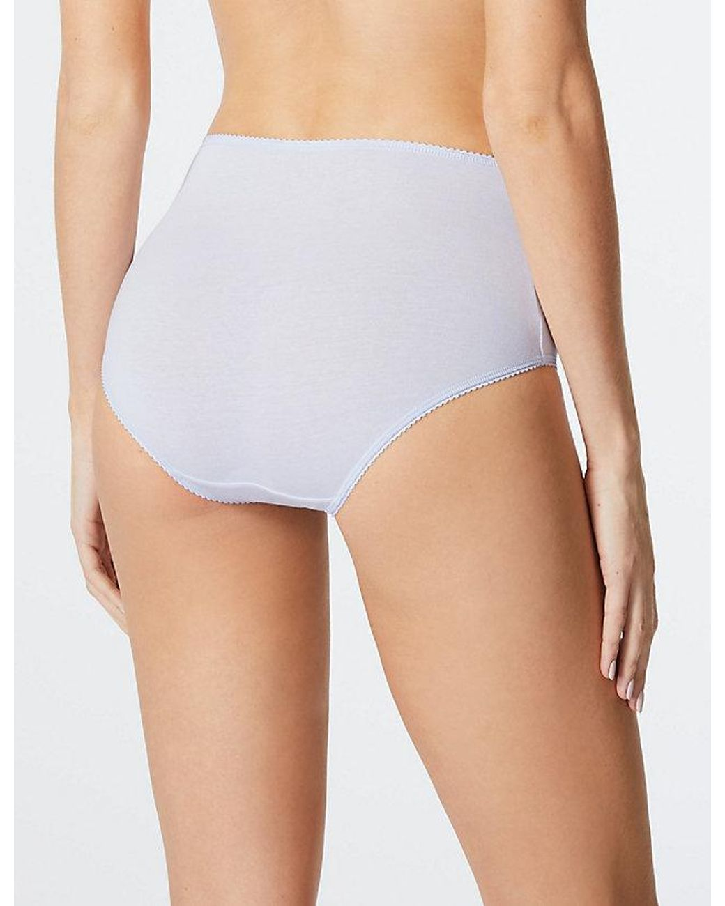 19ca00e6bf3 Marks & Spencer 5 Pack Cotton Rich Lace Full Briefs in White - Lyst
