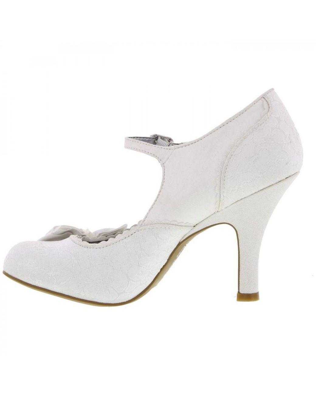98482b42a5fac Ruby Shoo Maria Vegan Bridal Wedding Court Shoes - Lyst