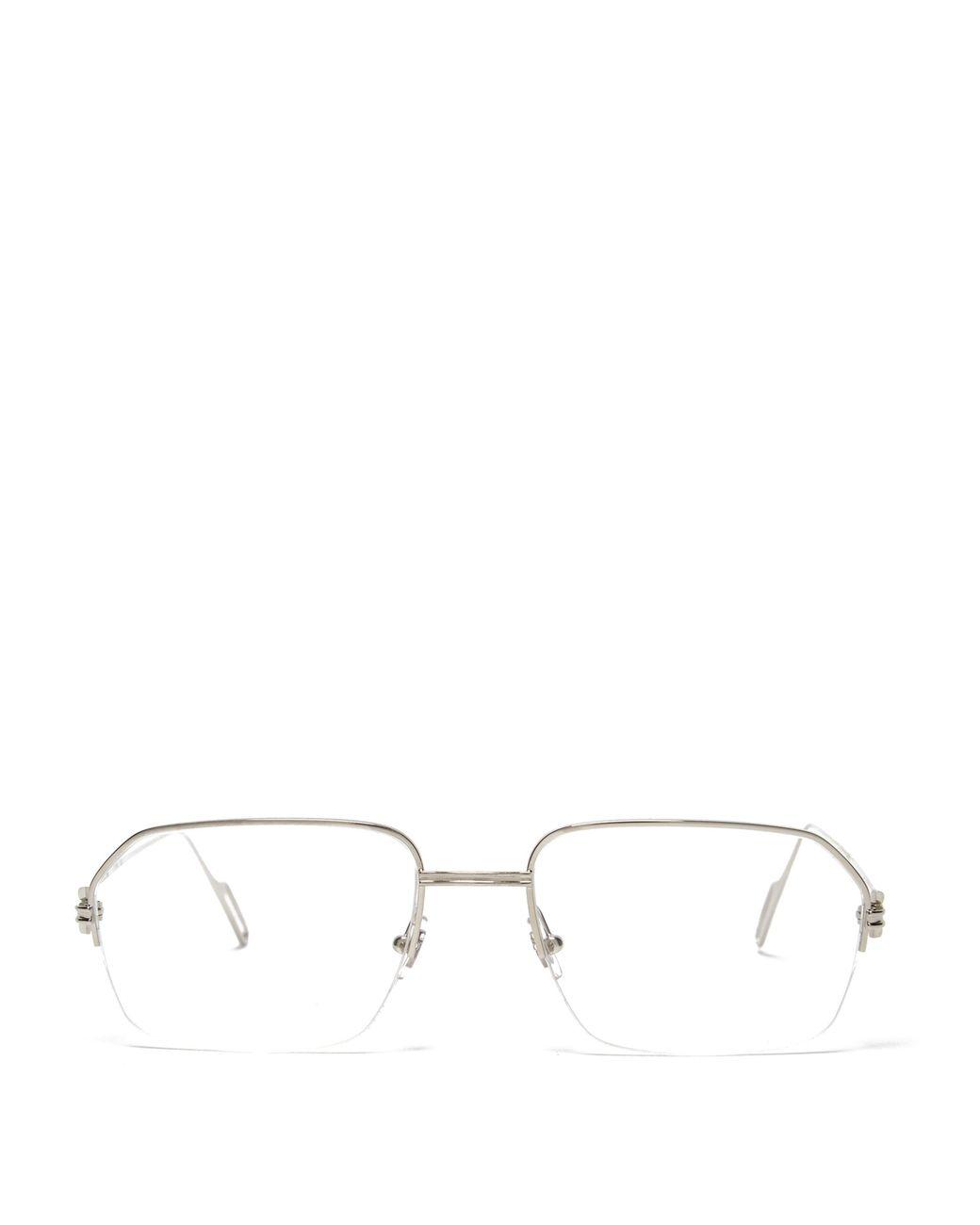 32409c3985 Cartier Première De Cartier Square Frame Metal Glasses in Metallic ...