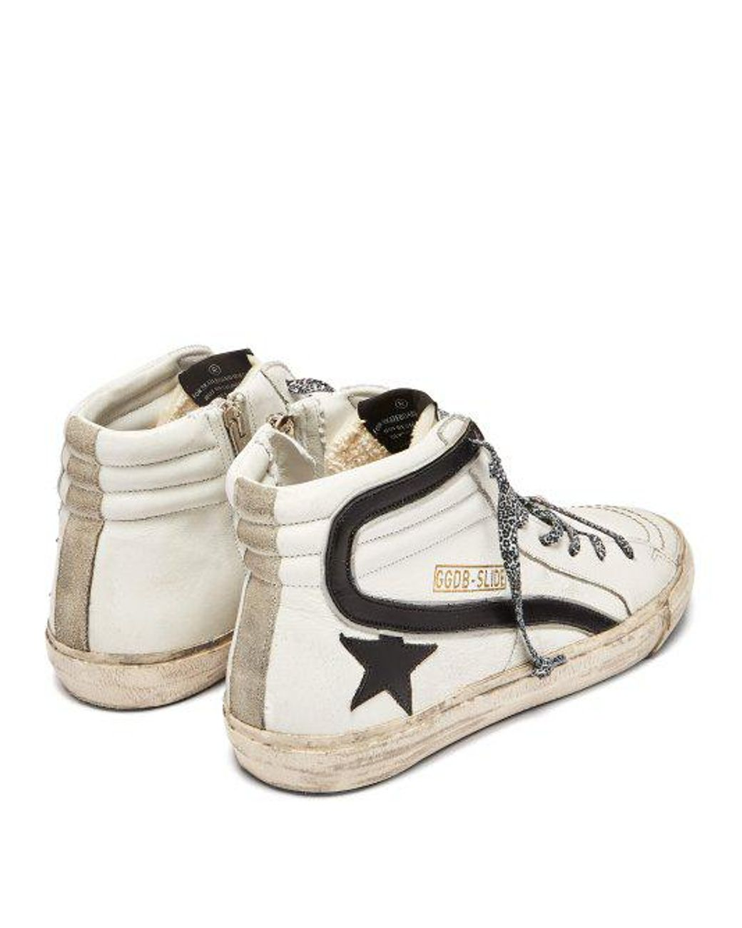 216f912c0bd7 golden goose deluxe brand women s white slide high-top leather trainers