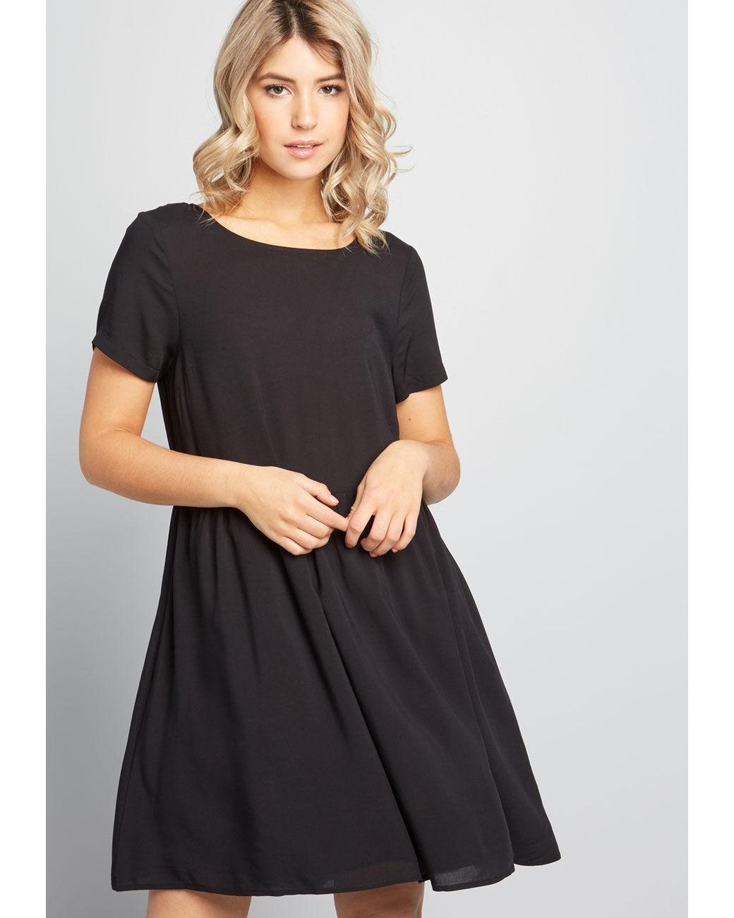 4871a31b3fba2 ModCloth Sway Into Style Babydoll Dress in Black - Save 63% - Lyst