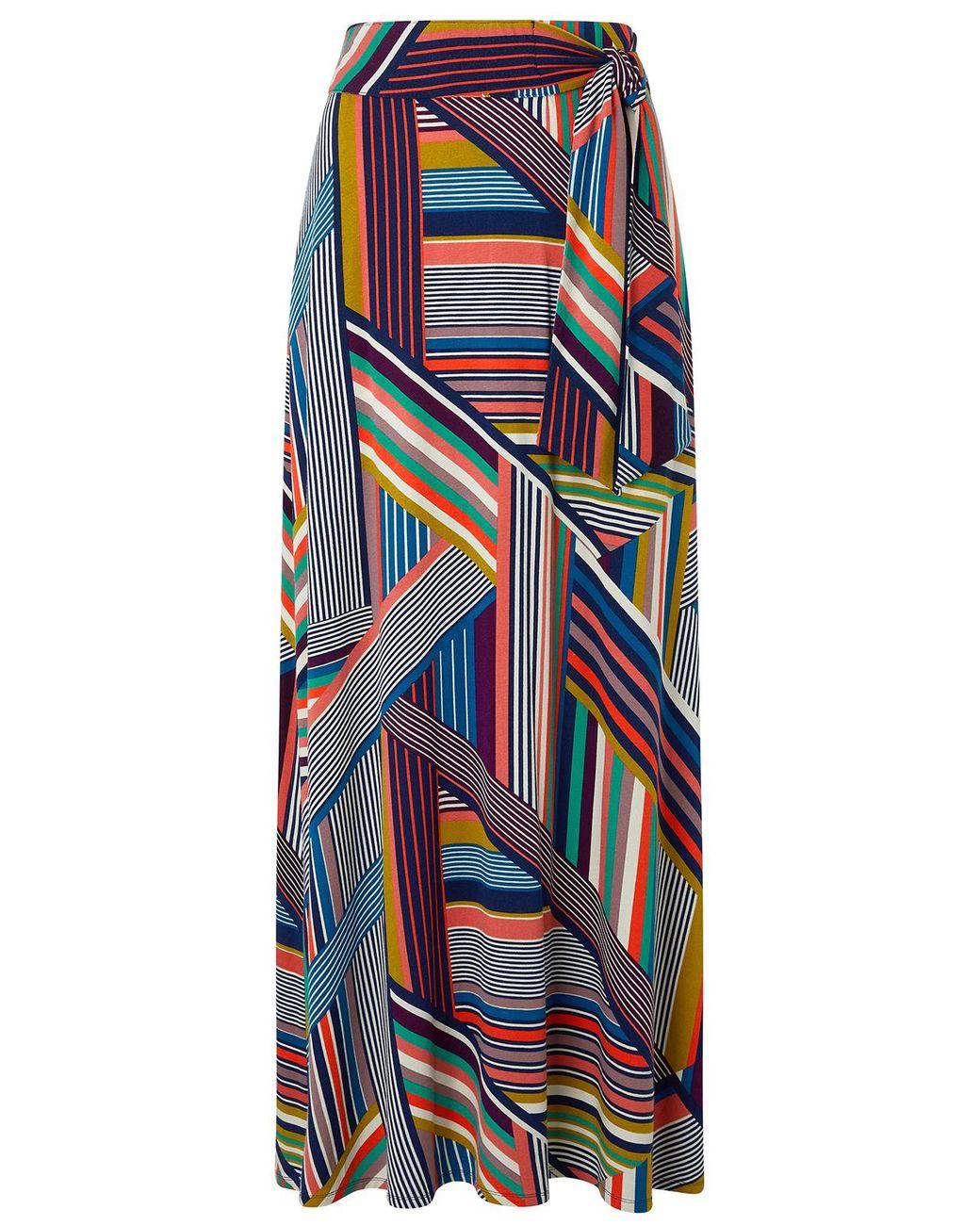 4cff89b8ca Monsoon Multicoloured 'siani' Stripe Maxi Skirt in Blue - Save 31% - Lyst