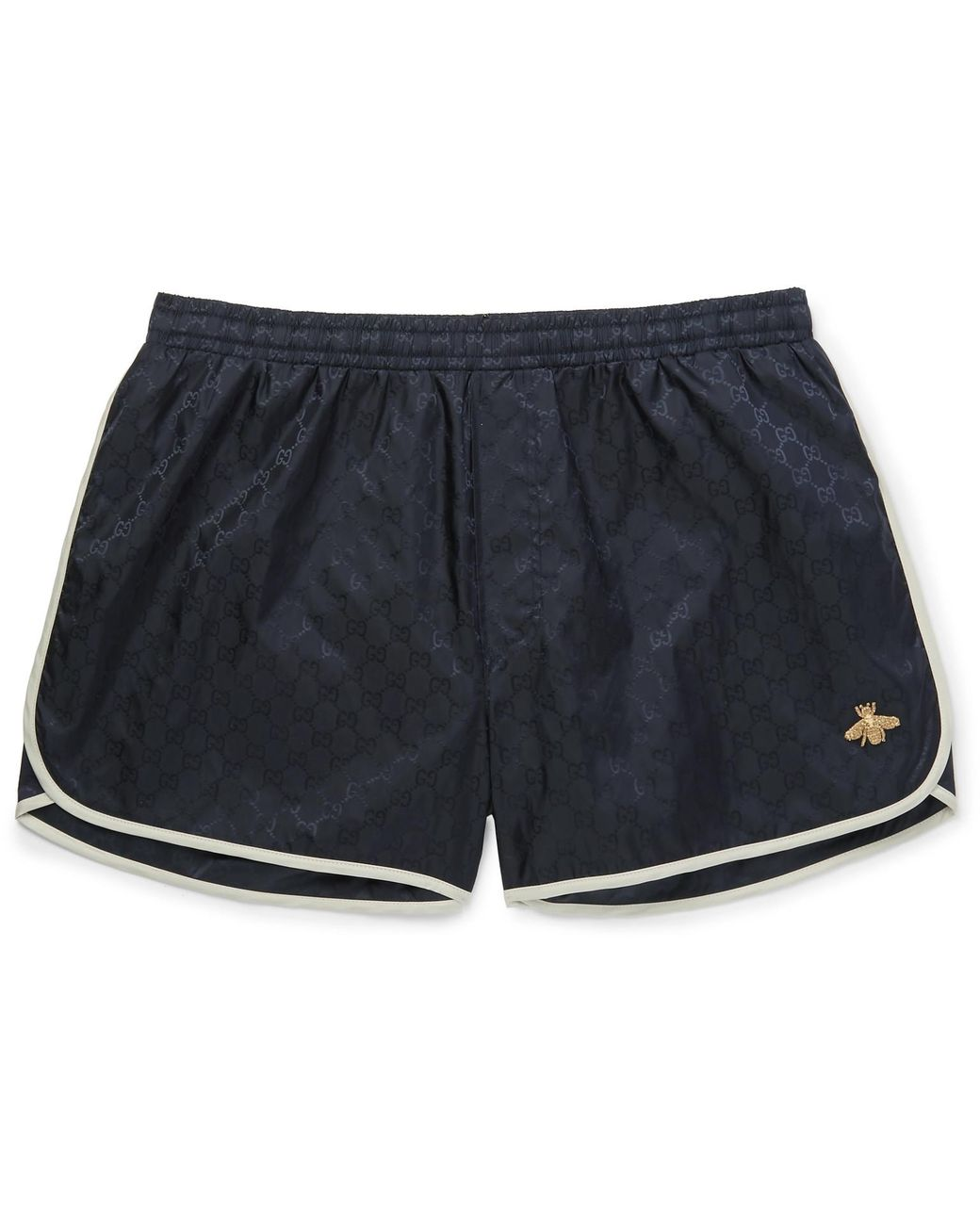 12319f6415 Gucci Short-length Embroidered Jacquard Swim Shorts in Blue for Men - Lyst