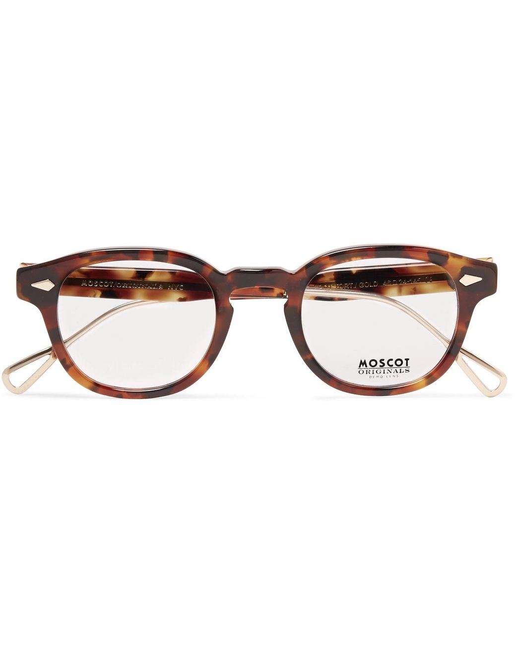 a00c22361c6f Moscot. Men s Brown Lemtosh Round-frame Tortoiseshell Acetate And Gold-tone  Titanium Optical Glasses