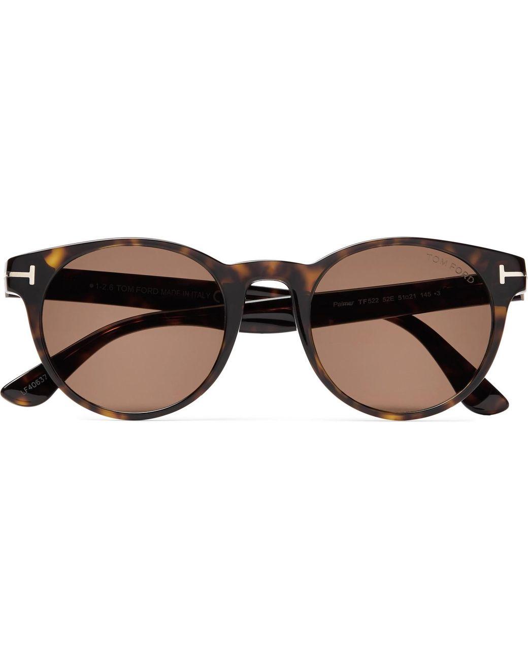 e3c491f128d1 Tom Ford Palmer Round-frame Tortoiseshell Acetate Sunglasses in ...
