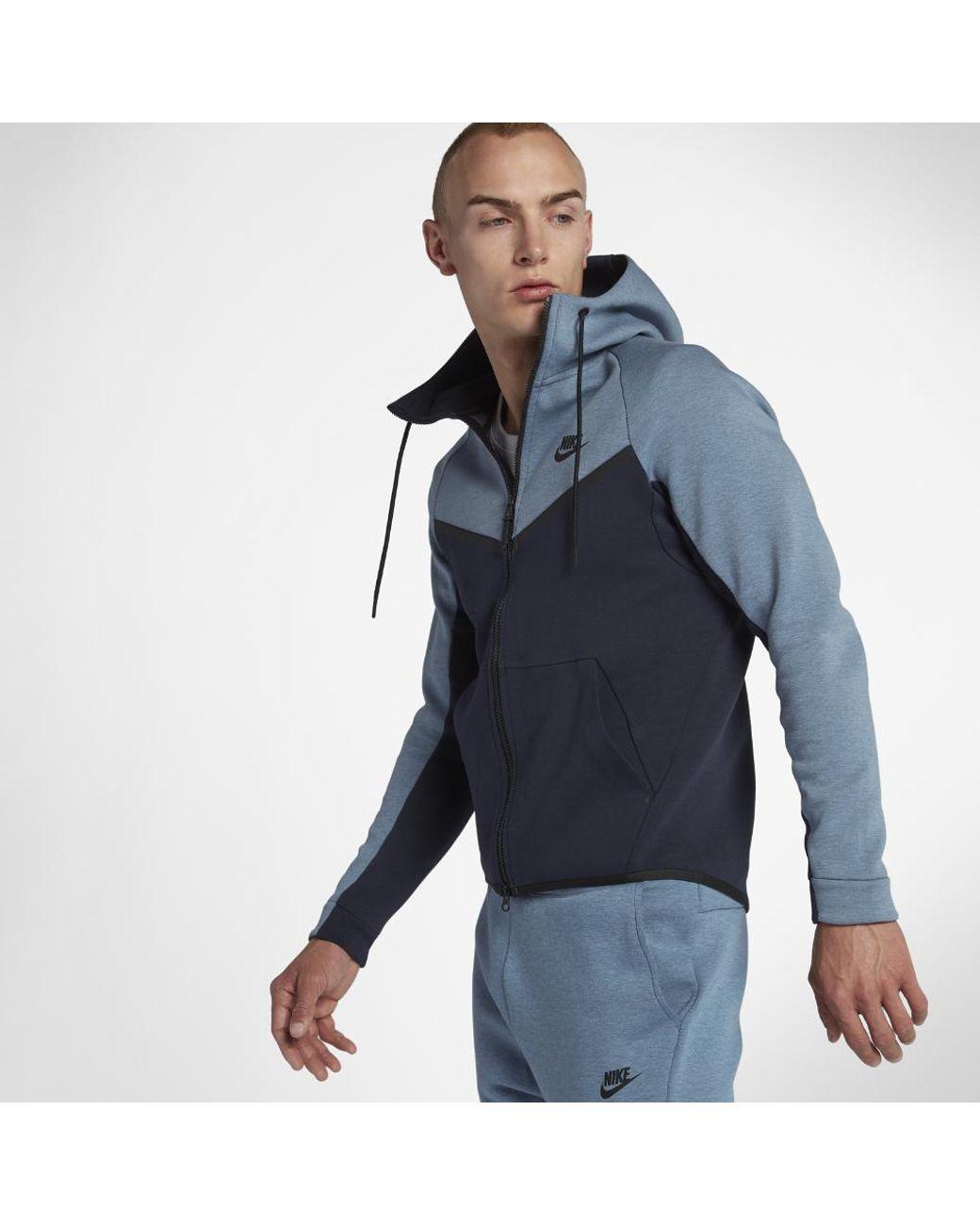c9814292c23a Lyst - Nike Sportswear Tech Fleece Windrunner Men s Full-zip Hoodie in Blue  for Men