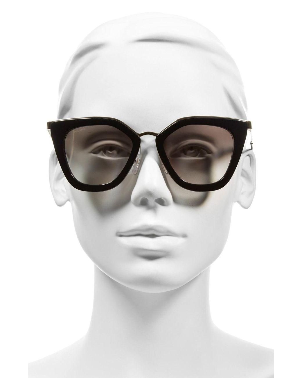 f3708a0f8b Lyst - Prada 52mm Cat Eye Sunglasses -