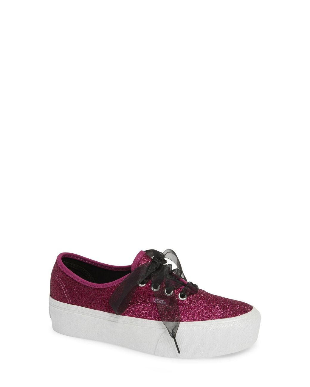 b5e7921b6b Lyst - Vans Glitter Authentic Platform 2.0 Womens Shoes in Pink ...