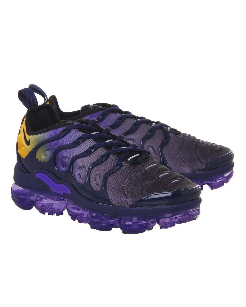 c7a3f3e1c5fef Nike air vapormax plus trainers in blue lyst jpg 1040x1300 Nike air vapor  max plus purple