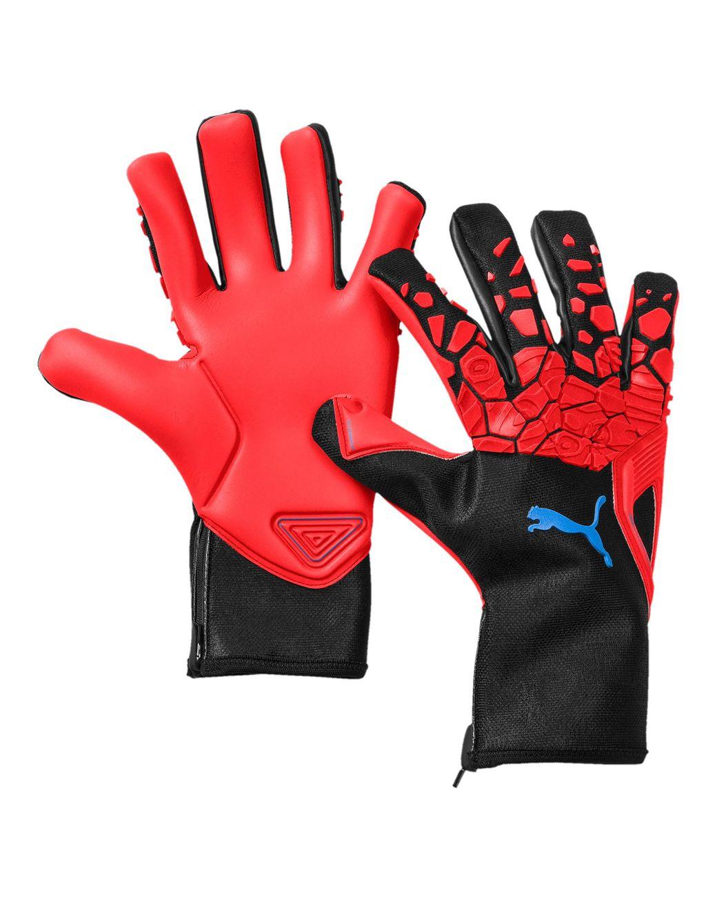 ff386b25f541 Lyst - PUMA Future Grip 2.1 Goalkeeper Gloves in Red for Men