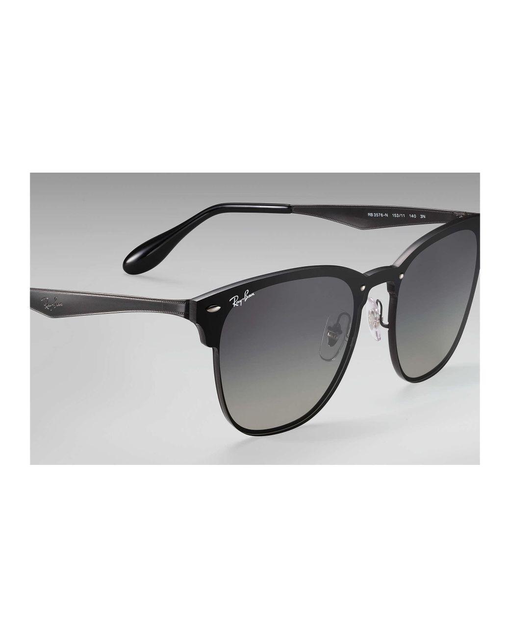 88d784c2c5 Ray-Ban Blaze Clubmaster Black in Black - Save 5% - Lyst