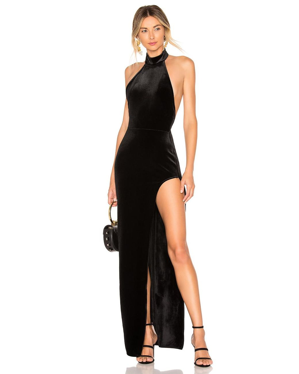 e91bc260313ac Michael Costello X Revolve Penelope Gown in Black - Lyst