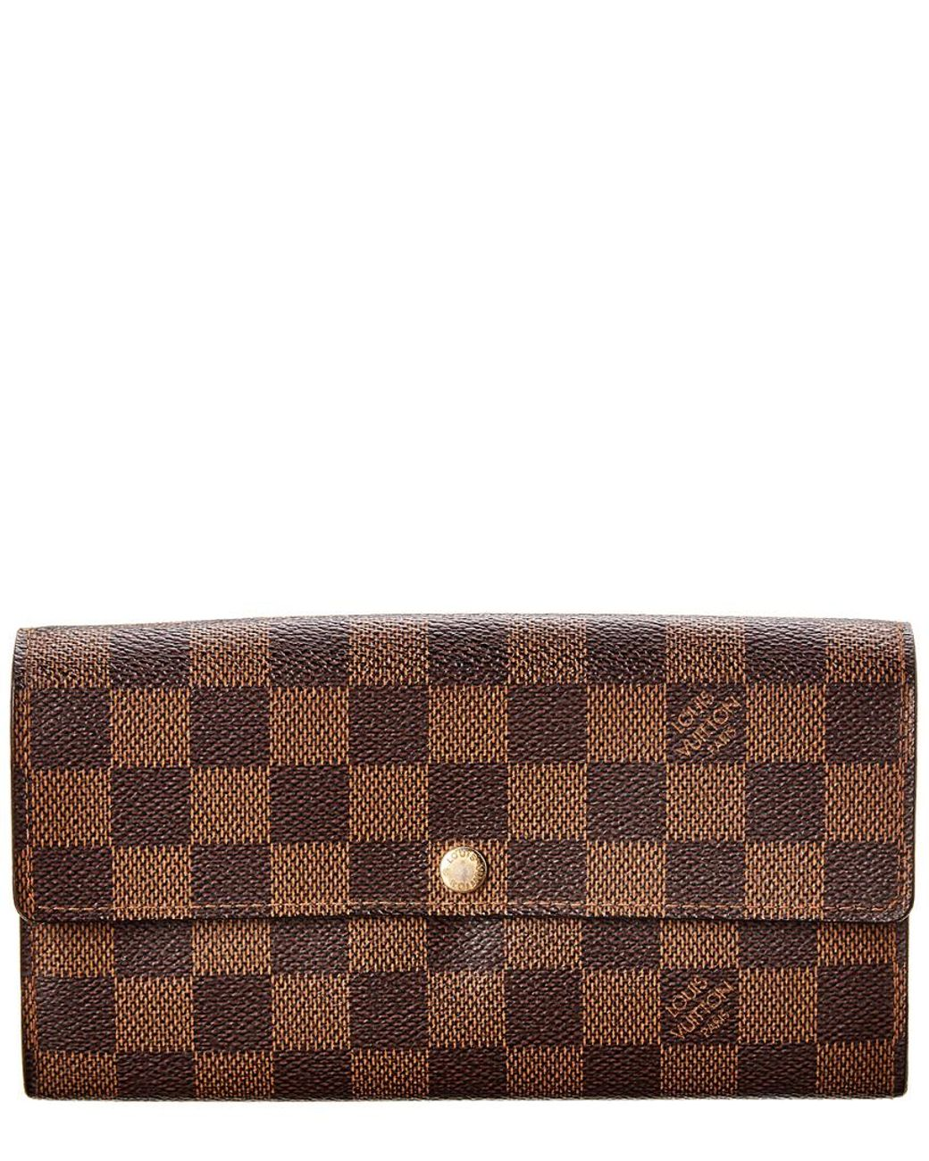 9ff8a7a30d9f Long-Touch to Zoom. Long-Touch to Zoom. 1  2. Louis Vuitton - Brown Damier  Ebene Canvas Sarah Wallet ...