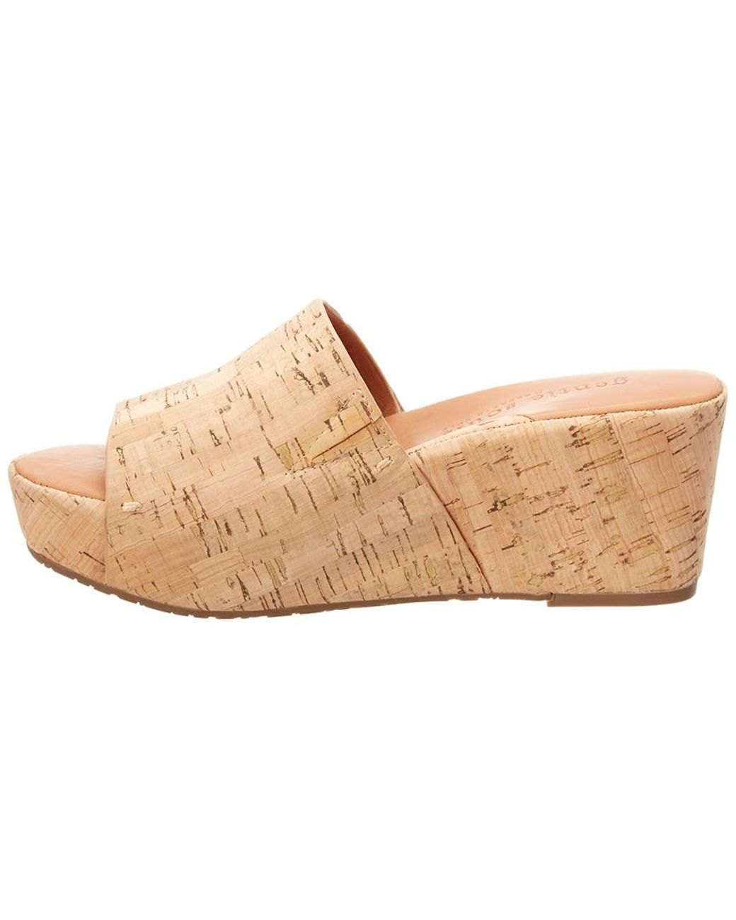 2a4b1ced59 Lyst - Gentle Souls Forella Cork Wedge Sandal in Natural - Save 52%