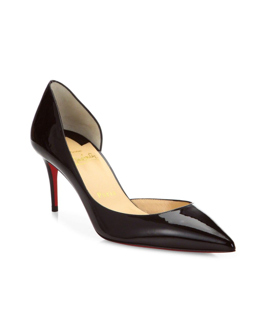 75ce08a8fe Christian Louboutin. Women's Iriza 70 Patent Leather D'orsay Court Shoes -  Black