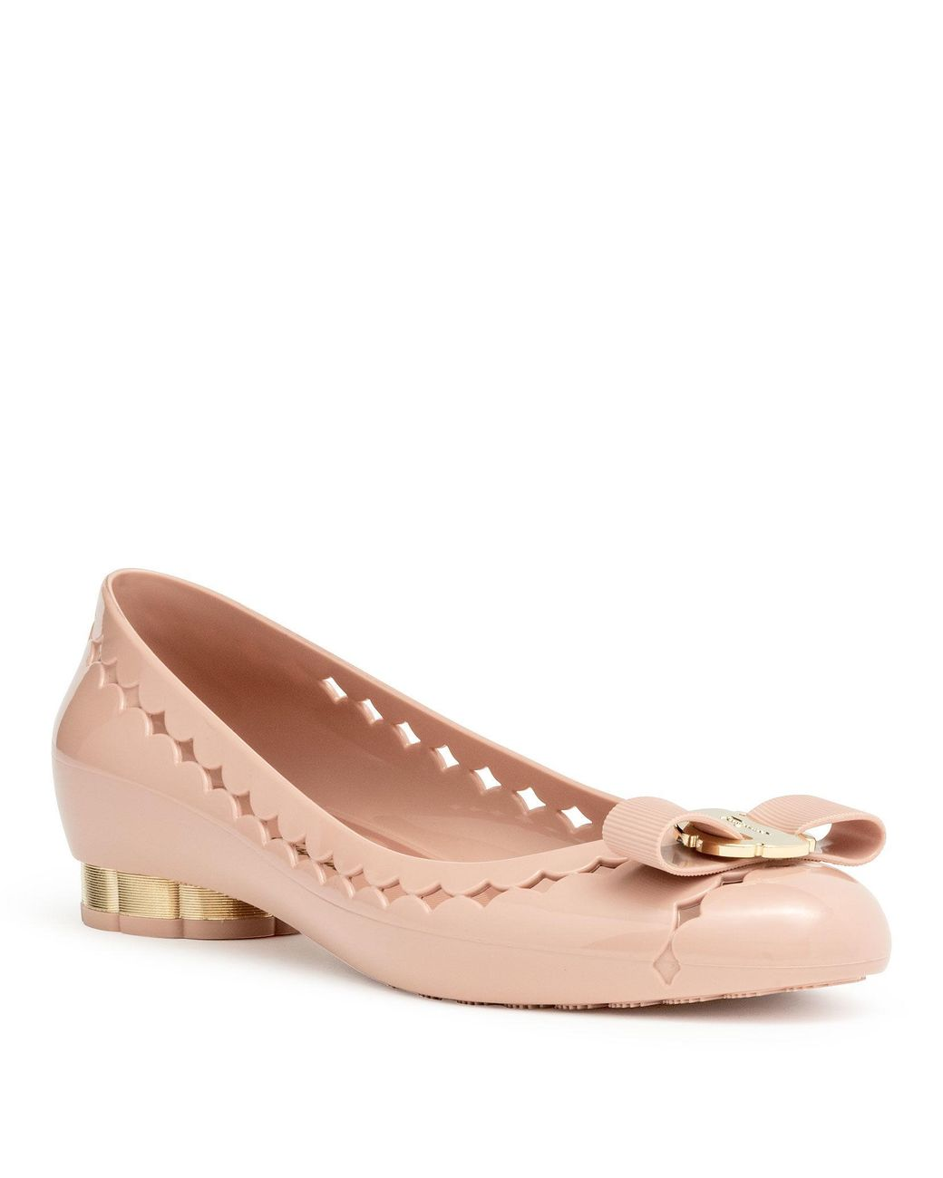 314f3eed3 Ferragamo Jelly Ballet Flat in Pink - Save 57% - Lyst