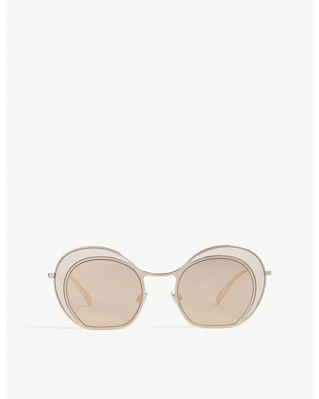1513e856ec8 Giorgio Armani Ladies Brown Luxury Ar6073 Round Sunglasses in Brown ...
