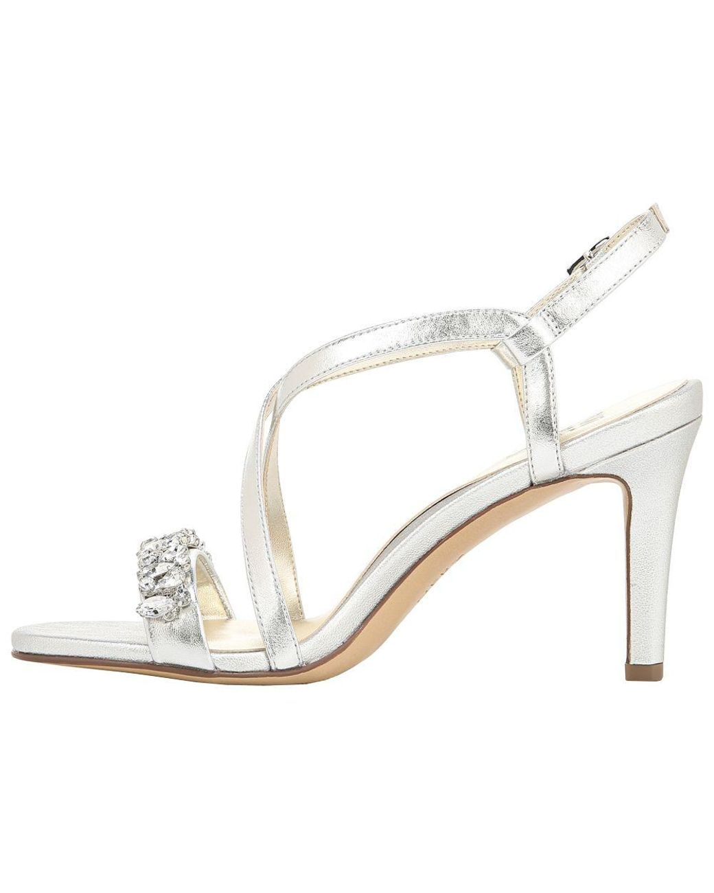 18e66400ad19 Lyst - Naturalizer Kia Evening Leather Dress Sandals in Metallic - Save 31%